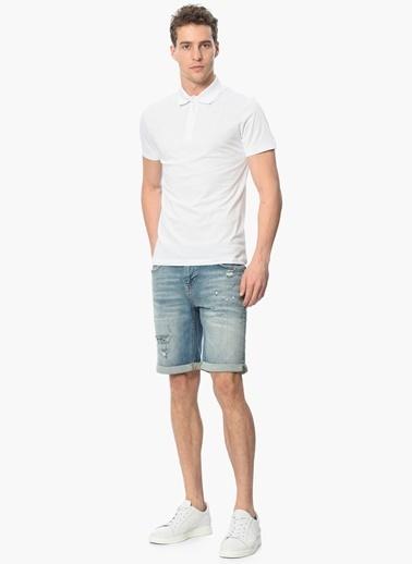 Que Polo Yaka Tişört Beyaz